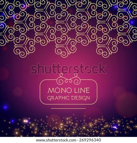 Colorful bokeh & line design template. Vector illustration - stock vector