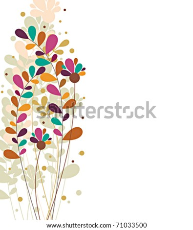 Colorful Botanic Design - stock vector