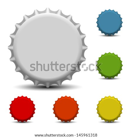 Colorful bottle caps vector  - stock vector