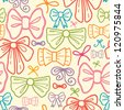 Colorful bows seamless pattern background - stock