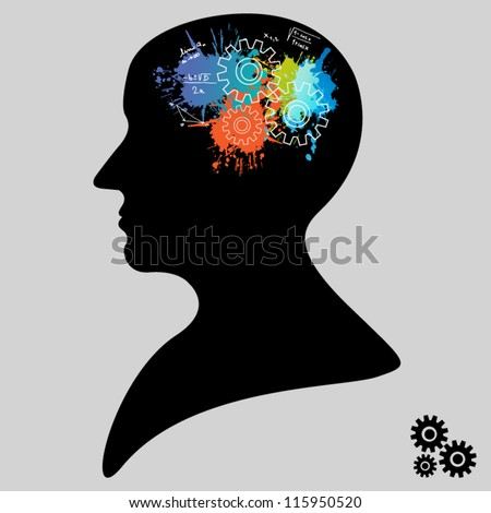 Colorful brain functional concept - stock vector