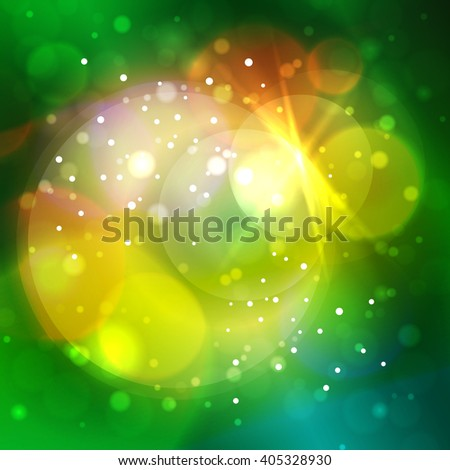 Colorful Bright Abstract Bokeh Background , Defocused Lights, Vector Illustration - stock vector