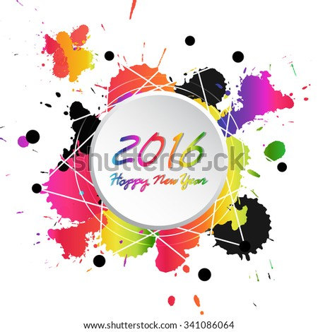 Colorful Bright New Year 2016 Background