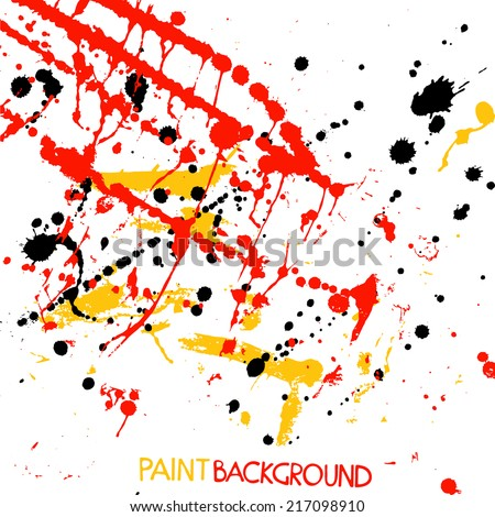 Colorful Bright Paint Stains. Abstract Vector Background - stock vector