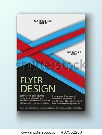 Colorful Brochure design. Flyer Design for business, education, presentation, website, magazine cover. Vector illustration eps10. Poster template. - stock vector