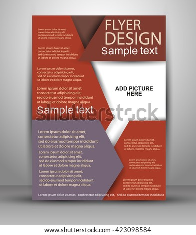 Colorful Brochure design. Stylish presentation of business poster, magazine cover, design layout template. Vector eps10.  Flyer template  - stock vector