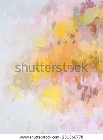 Colorful brush stroke paint. Abstract illustration. - stock vector
