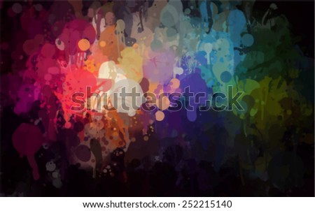 Colorful  brush strokes background. Vector version - stock vector