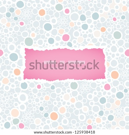 Colorful bubbles frame seamless pattern background - stock vector