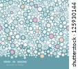 Colorful bubbles horizontal seamless pattern background - stock photo