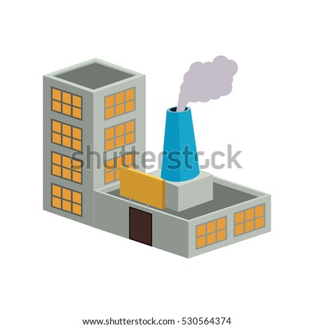 colorful building industrial with single fireplace