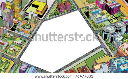 colorful building urban city - stock vector