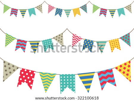 colorful bunting flag - stock vector