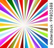 Colorful burst background vector - stock vector