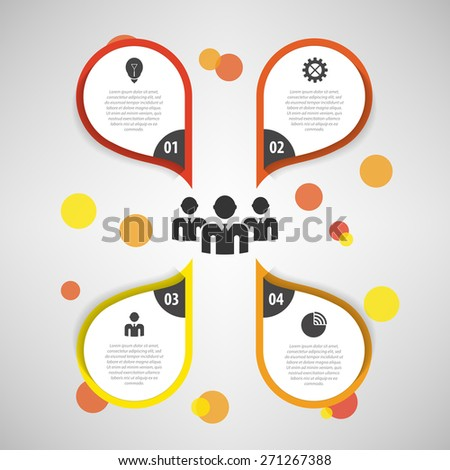 Colorful businessman meeting with Speech Bubble Options. Template. Vector - stock vector