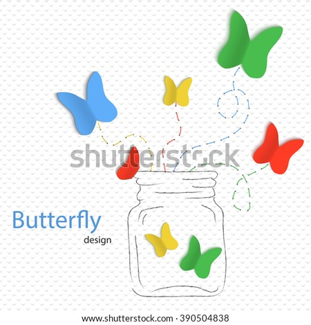 Colorful butterflies. - stock vector