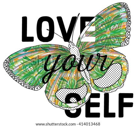 colorful butterfly.watercolor .vector butterfly.beauty vector butterfly.vector slogan.butterfly slogan - stock vector