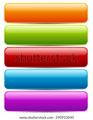 colorful button/banner templates. horizontal bars with blank space for bold texts - stock vector