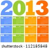 colorful calendar. vector illustration - stock vector