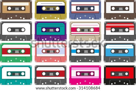 colorful cassette collection