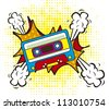 colorful cassette, pop art style. vector illustration - stock photo