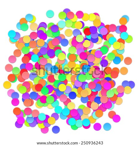 Colorful celebration background with confetti. Vector Illustration