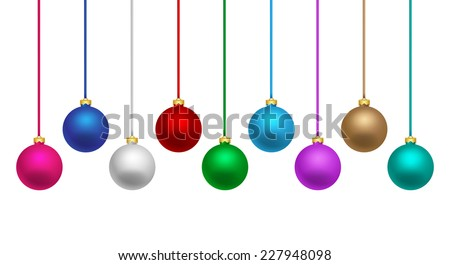 Colorful Christmas balls - stock vector