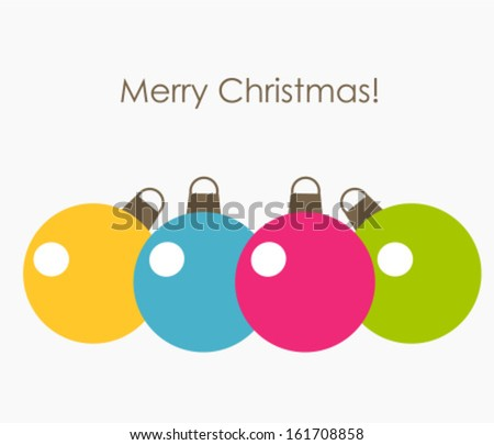 Colorful Christmas baubles. Vector illustration - stock vector