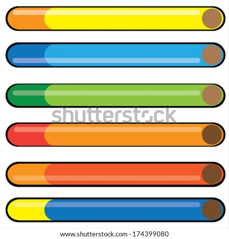colorful cigarette isolated on white background - stock vector