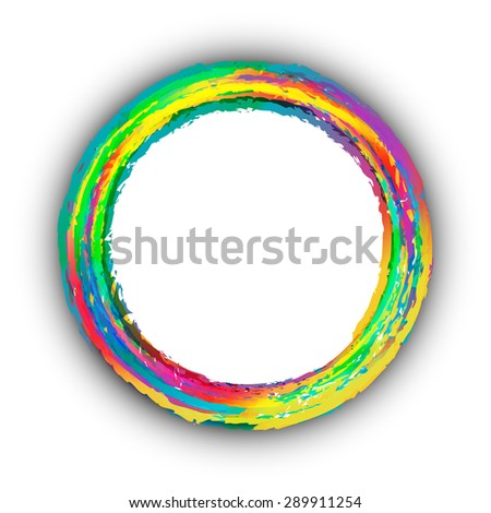 Colorful circle background, banner design - stock vector