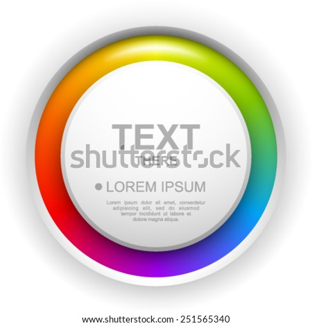 Colorful circle button background. - stock vector