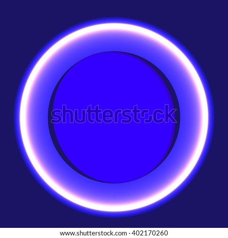 Colorful circle design template, abstract background, vector illustration