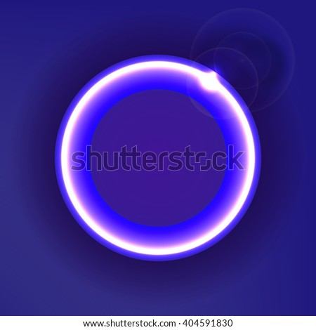 Colorful circle with glow, abstract background design, vector illustration - stock vector