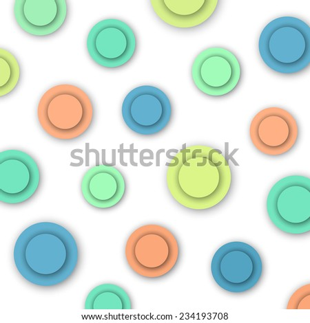 Colorful Circles, abstract background, vector eps10 illustration - stock vector