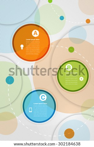 Colorful circles modern abstract composition with space for text, Geometric background, Vector illustration - stock vector