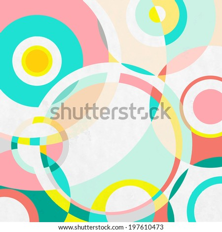 Colorful circles paper background, vector