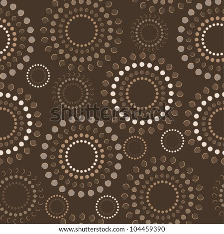Colorful circles pattern - stock vector