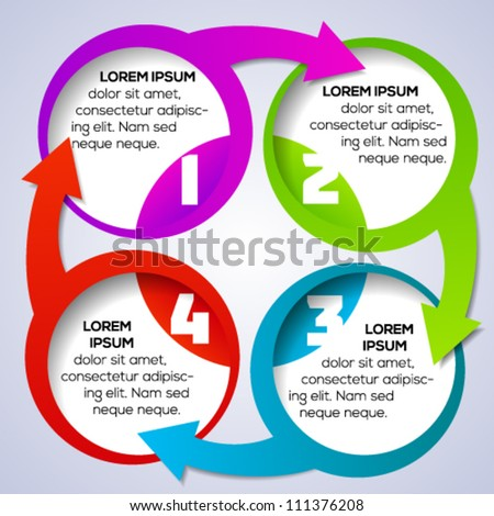 Colorful circular banner template for different business design. Vector illustration. - stock vector