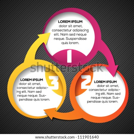 Colorful circular 3d banner template for different business design. Vector illustration. - stock vector