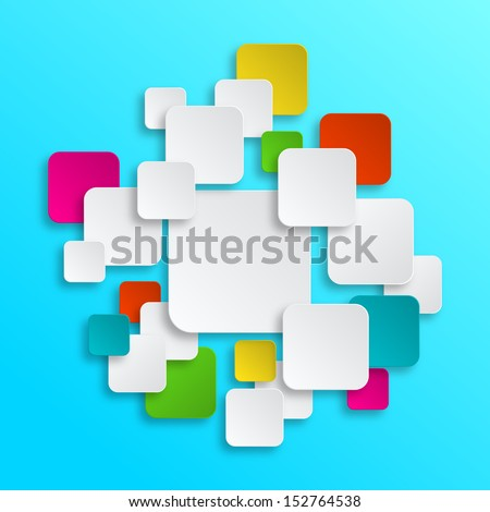 Colorful Clean Paper Stickers - stock vector