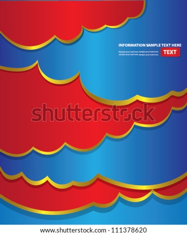 Colorful Clouds Abstract Background,for text,Vector - stock vector