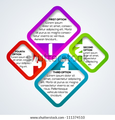 Colorful connection banner template for different business design. Vector illustration. - stock vector