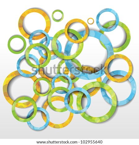 Colorful creative modern abstract 3d vector background with circle pattern - stock vector