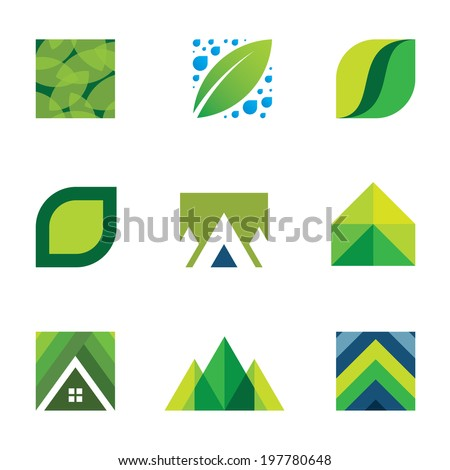 Colorful creativity inspiration design for professional company vector logo icons - stock vector