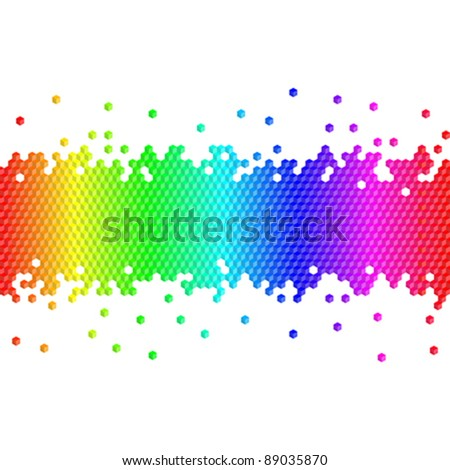 colorful cubes background - stock vector