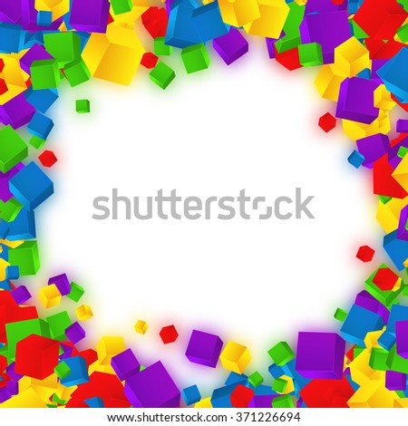 Colorful cubes composition.Background template.Cube vector. - stock vector