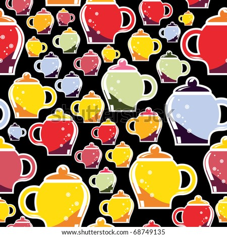 Colorful cups - pattern - stock vector