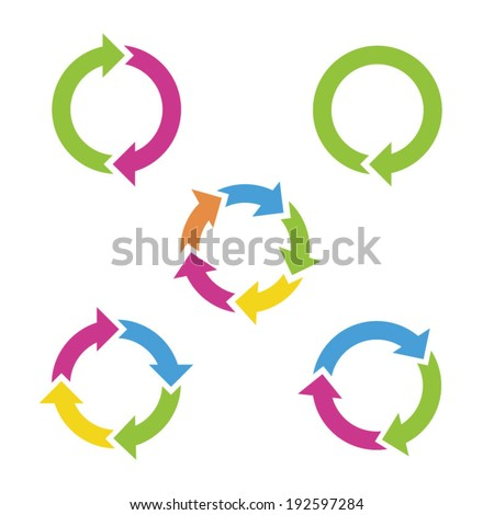 Colorful cycle arrows. Vector illustration. - stock vector