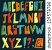 Colorful 3d alphabet set - stock vector