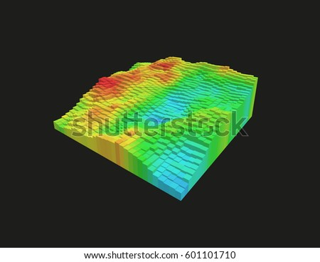 Voxel stock images royalty free images vectors for Surface design landscape